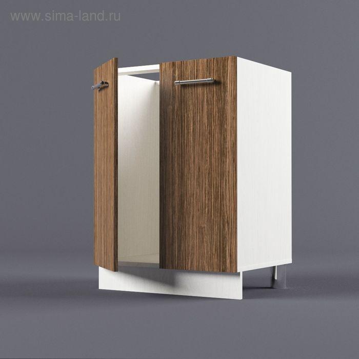 Шкаф напольный под накладную мойку 850*600*450 Шимо Темный