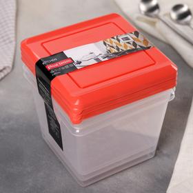 Набор пищевых контейнеров Plast team Pattern, 1 л, 3 шт, цвет МИКС