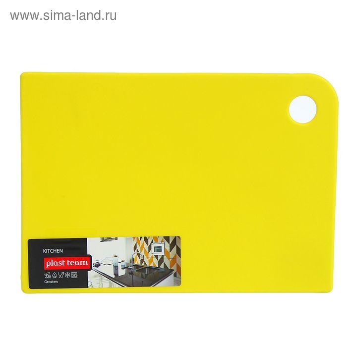 Доска разделочная 25х18 см Grosten, цвет желтый