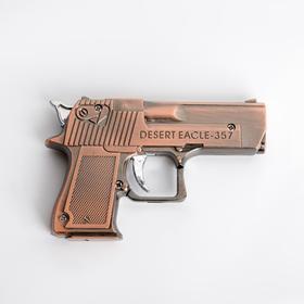 """Зажигалка газовая """"Desert eagle"""" с лазерной указкой, коричневый 6х9 см в Донецке"""