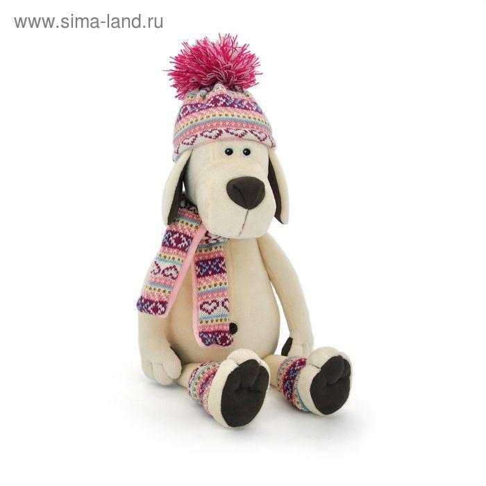 Мягкая игрушка «Собачка Лапуська в шапочке»