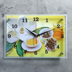 """Часы настенные, серия: Цветы, """"Чайная церемония"""" 25х35 см, микс"""