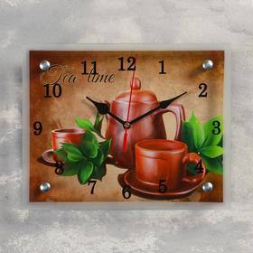 """Часы настенные, серия: Интерьер, """"Чайный набор """"Tea Time"""", 20х25 см, микс"""