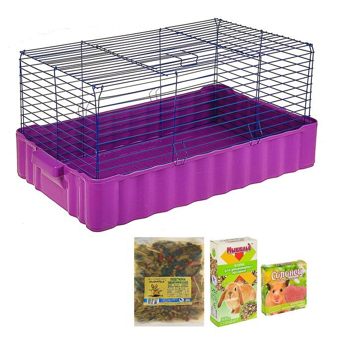 Новогодний подарок для кролика: клетка, опил, сено, корм, лакомство, солонец