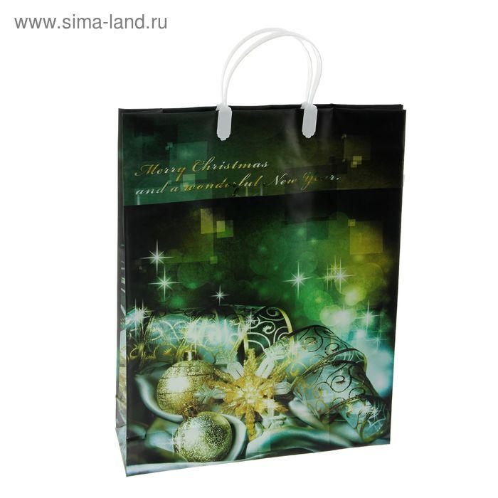 "Пакет ""Зеленое кружево"", мягкий пластик, 32 х 40 см"