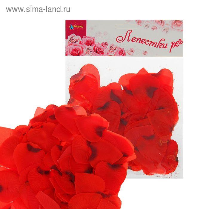Лепестки в форме сердца, цвет бордовый