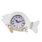 """Часы настольные """"Рыба"""" 24*14*5,5 см. спасательный круг, кораблик, Микс"""