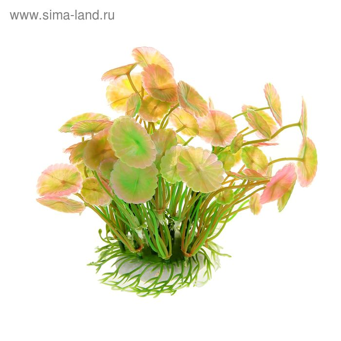 Островок с растениями искусственными для аквариума, 19 х 10 х 13 см