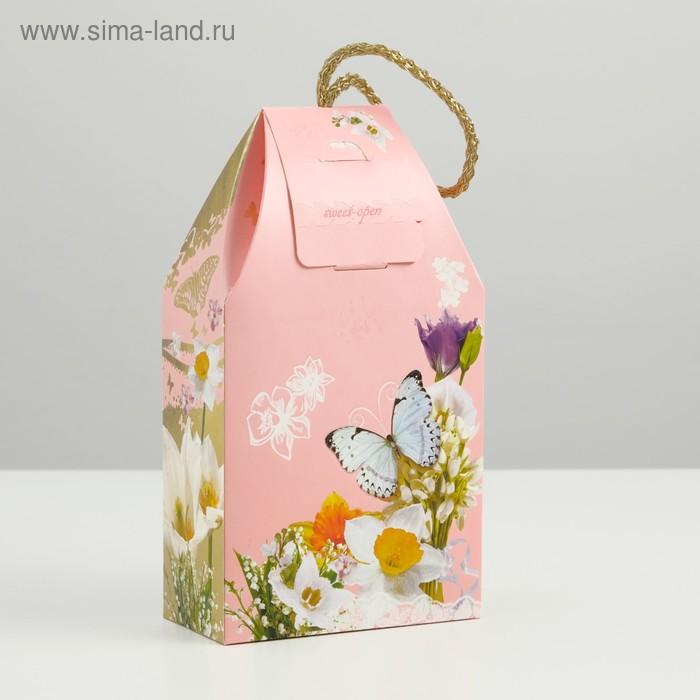 """Подарочная коробка """"Самой прекрасной"""", сборная, 19,5 х 11 х 5,5 см"""