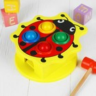 "Stuchalka ""ladybug"" with 4 balls and a hammer .in the package"