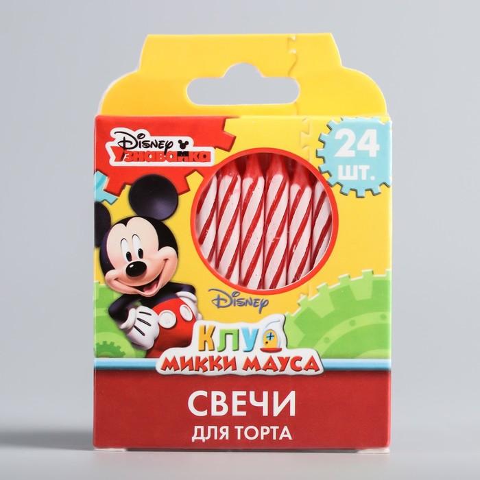 """Свеча в торт Дисней """"Клуб Микки Мауса"""", 24 шт, Микки Маус"""