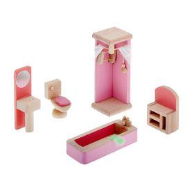 """Мебель кукольная """"Ванная комната"""" 5 предметов, в пакете"""