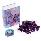 """Подарочный набор в книге-шкатулке """"Ты прекрасна"""": сухоцветы и эссенция, аромат туберозы"""