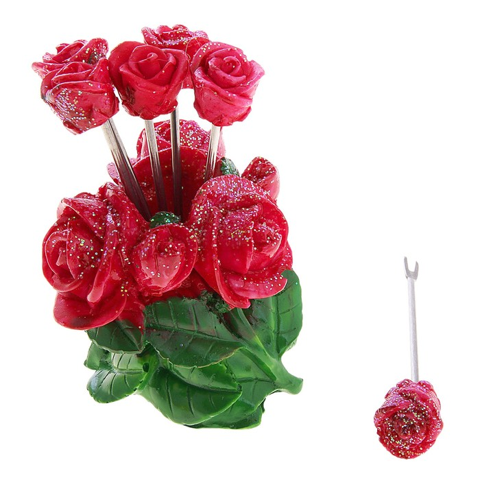 "Набор шпажек ""Розы"", 6 шт."