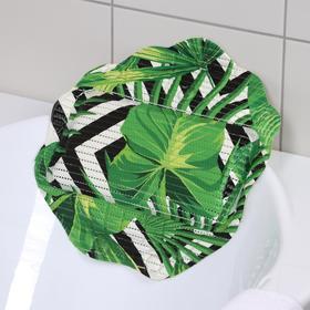 Подушка для ванны с присосками «Релакс», 33×33 см, цвет МИКС Ош