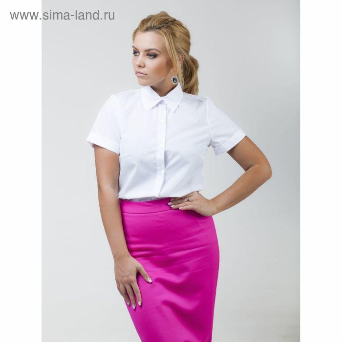 Рубашка женская Collorista с коротким рукавом, размер S (44), цвет белый