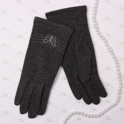 """Перчатки женские Collorista """"Бабочка"""", размер 19, цвет серый"""