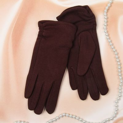 """Перчатки женские Collorista """"Веточки"""", размер 19, цвет коричневый"""