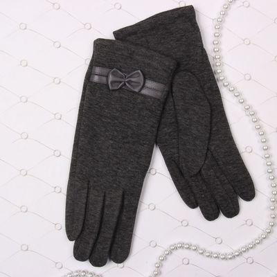 """Перчатки женские Collorista """"Бант"""", размер 19, цвет серый"""