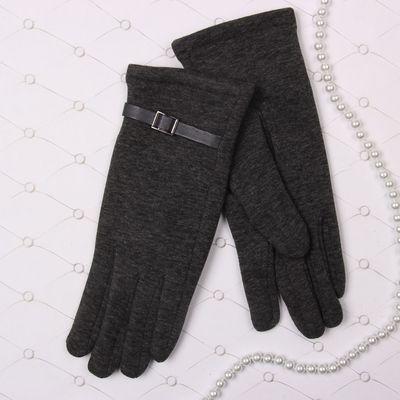 """Перчатки женские Collorista """"Ремешок"""", размер 19, цвет серый"""