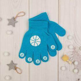 """Перчатки детские Collorista """"Мячики"""", размер 8, цвет голубой"""
