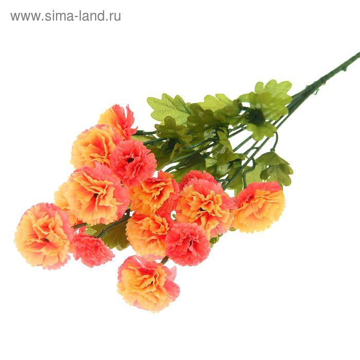 """Цветы искусственные """"Бархатцы кустовые"""" жёлто-розовые"""