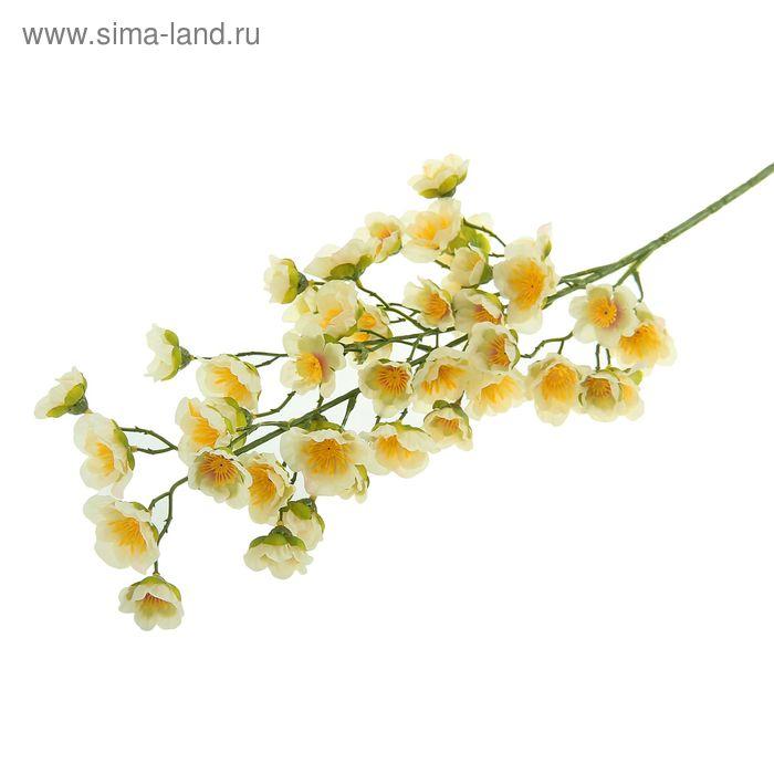 """Цветы искусственные """"Ветка яблони Макамик"""" бело-розовая"""