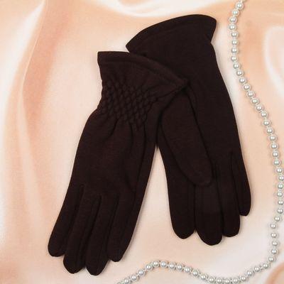"""Перчатки женские Collorista """"Текстура"""", размер 18, цвет коричневый"""