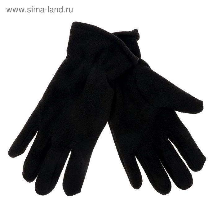 """Перчатки мужские """"Collorista"""" Черные с резинкой р-р 26, 100% п/э, флис"""