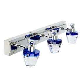 """Спот настенный LED """"Созвездие"""" 3 плафона (18 ламп) голубой"""