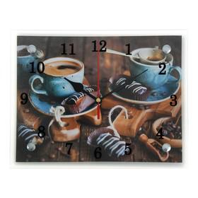 """Часы настенные, серия: Кухня, """"Кофе и конфеты"""", 20х25 см"""