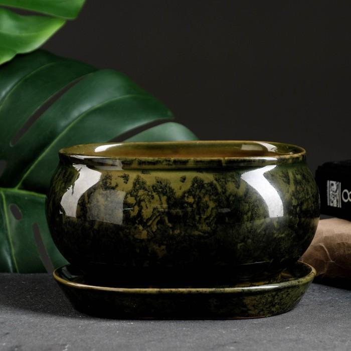 "Кашпо ""Танго"" зелёное 1,1 л"