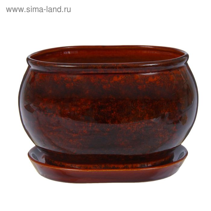 """Кашпо """"Танго"""" коричневое 3,65 л"""
