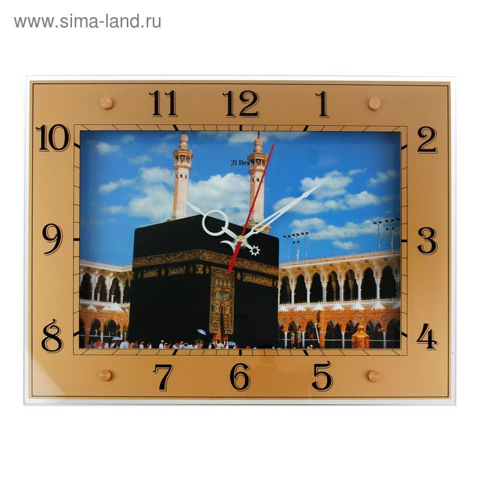 "Часы настенные прямоугольные ""Кааба"", 32х42 см"