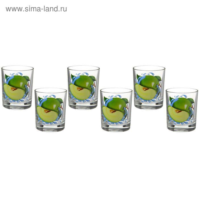 """Набор стаканов 6 шт 250 мл """"Яблоко зеленое"""""""