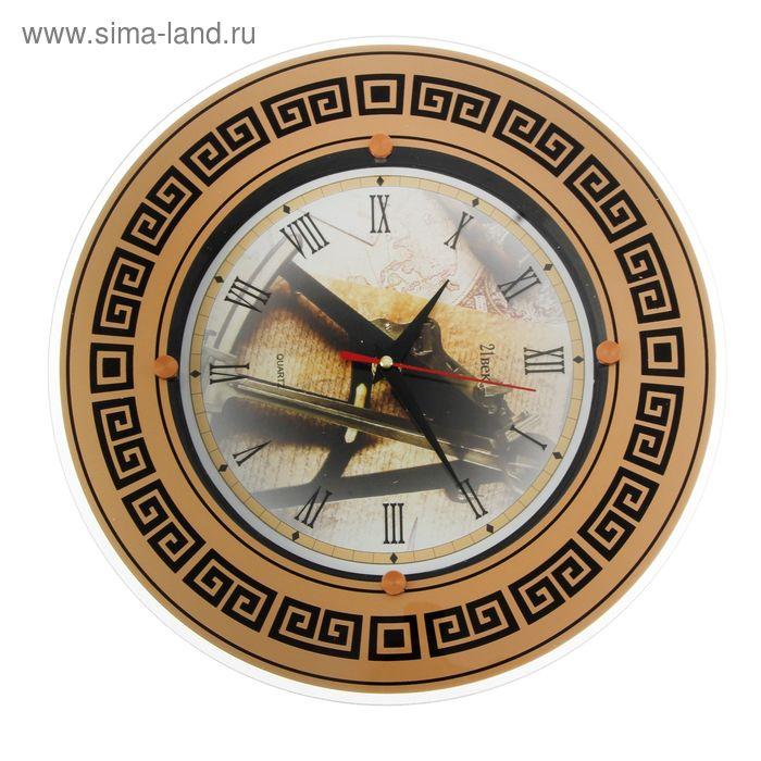 """Часы настенные круглые """"Ретро"""", узорчатое кольцо 840, 32х32 см"""