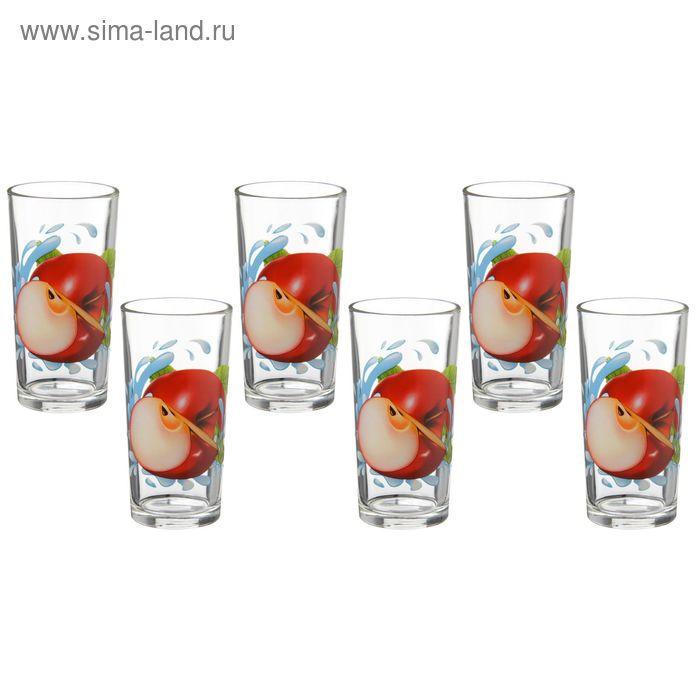 """Набор стаканов 200 мл """"Яблоко красное"""", 6 шт"""