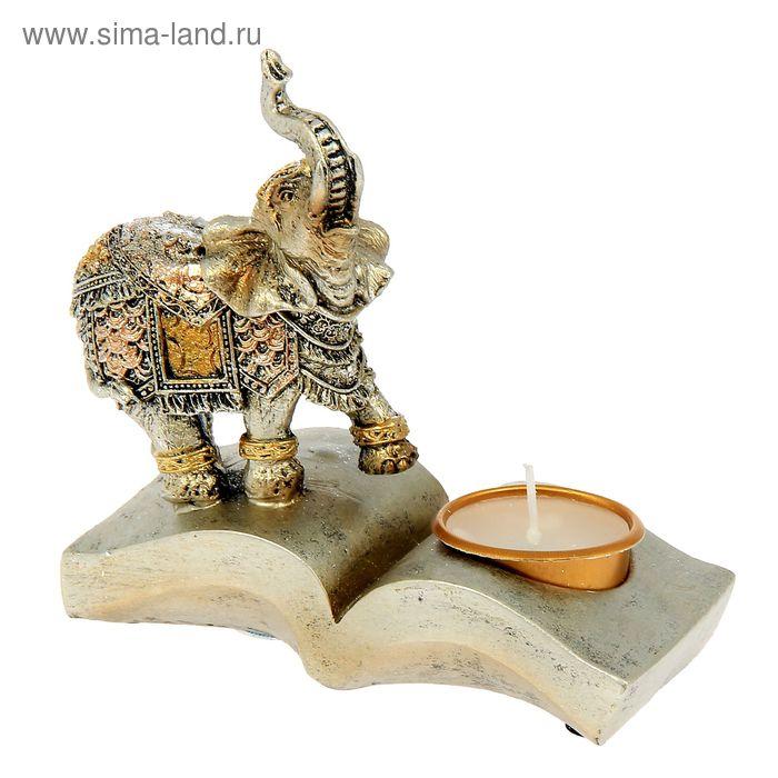 """Сувенир """"Слон на книге"""" со свечой"""