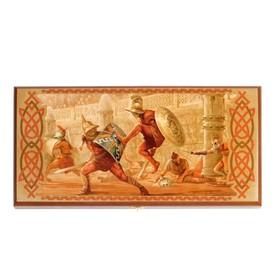 """Нарды """"Гладиатор"""", деревянная доска 40х40 см, с полем для игры в шашки"""