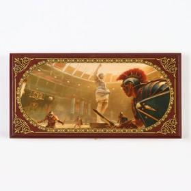 Нарды 'Аве Цезарь', деревянная доска 40х40 см, с полем для игры в шашки Ош