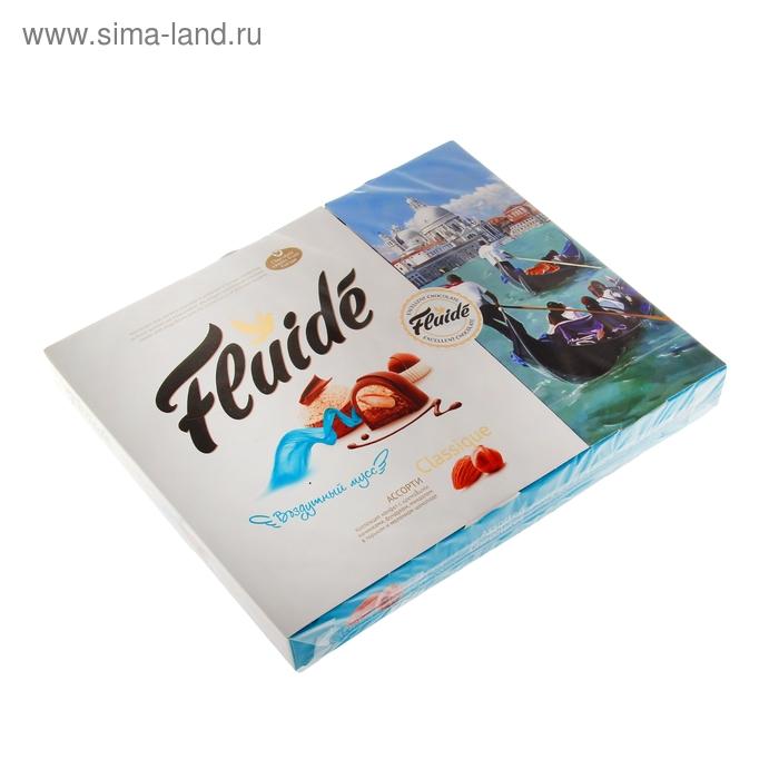 Конфеты Fluide Classique, Ассорти, в горьком и молочном шоколаде, 215 г