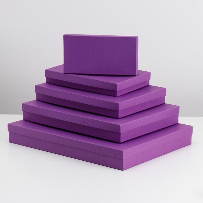 """Набор коробок 5в1 """"Пурпурный холст"""" 40 х 30 х 5 - 20 х 10 х 3 см"""