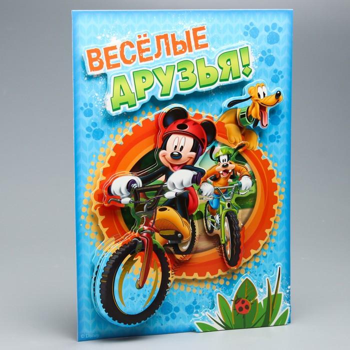 """Аппликация объёмная 3D """"Веселые друзья"""", Микки Маус и его друзья, А4"""