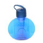 Фляжка-бутылка круглая, 650 мл, синяя