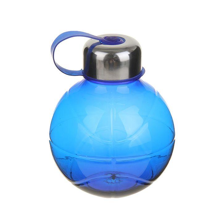 Фляжка-бутылка «Сфера», 600 мл, синяя