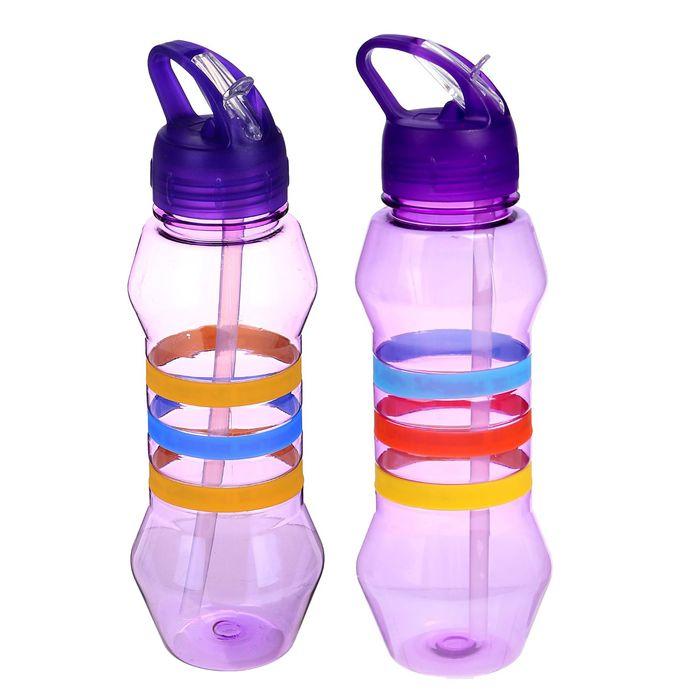 """Фляжка-бутылка для воды """"Три полоски"""", 750 мл, фиолетовая"""