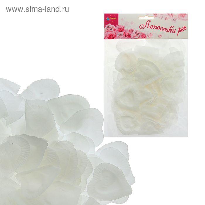 Лепестки в форме сердца, цвет белый
