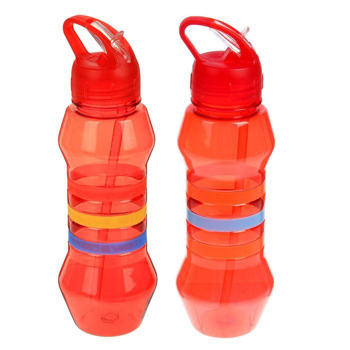 Фляжка-бутылка «Три полоски», 750 мл, красная
