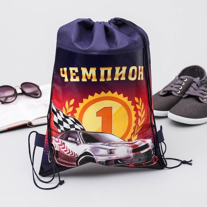 """Мешок для обуви """"Чемпион"""", 26 х 37,5 см"""