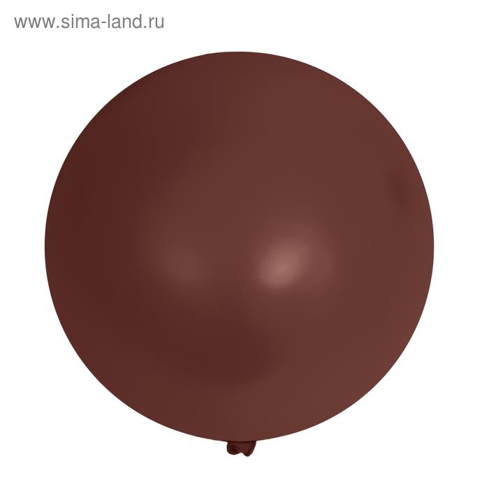 """Шар латексный 10"""", пастель, набор 15 шт., цвет шоколадный"""